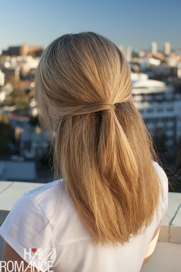 Cool Easy Hairstyles Amusing Halfup Hairstyle Inspiration  Easy Ponytail Hairstyles Tutorial