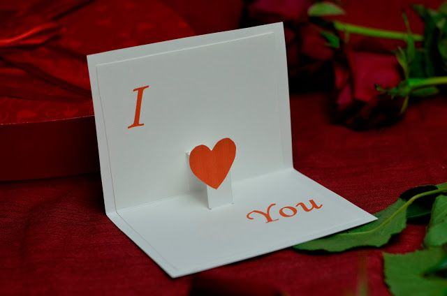 Valentines Day Free Pop Up Card Template