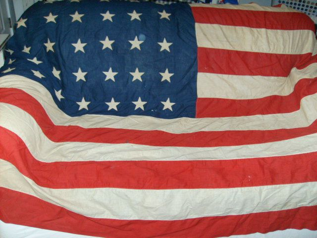 Cottage Room 5 June 10th, 2013 Very Old Vintage 48 star flag hand sewn stars