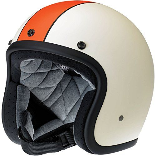 Biltwell Bonanza Le Racer Helmet Flat Cream Orange Small With