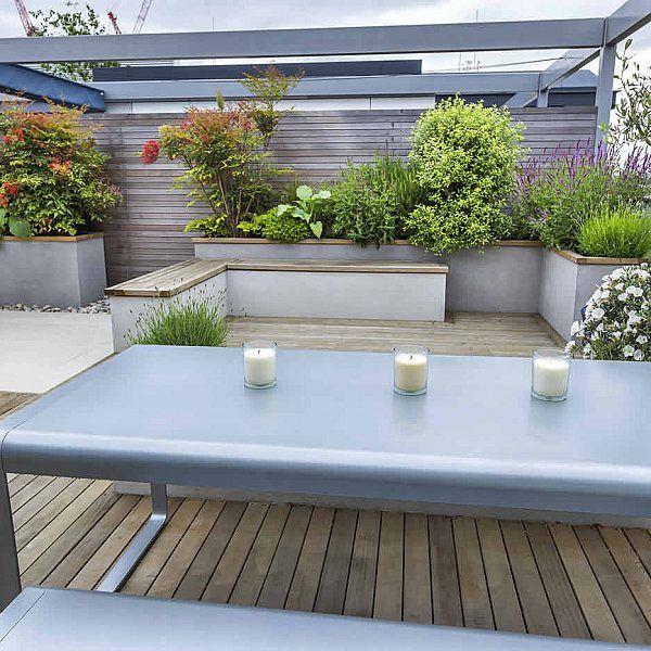Roof Terrace Design penthouse apartment King's Cross development, LED