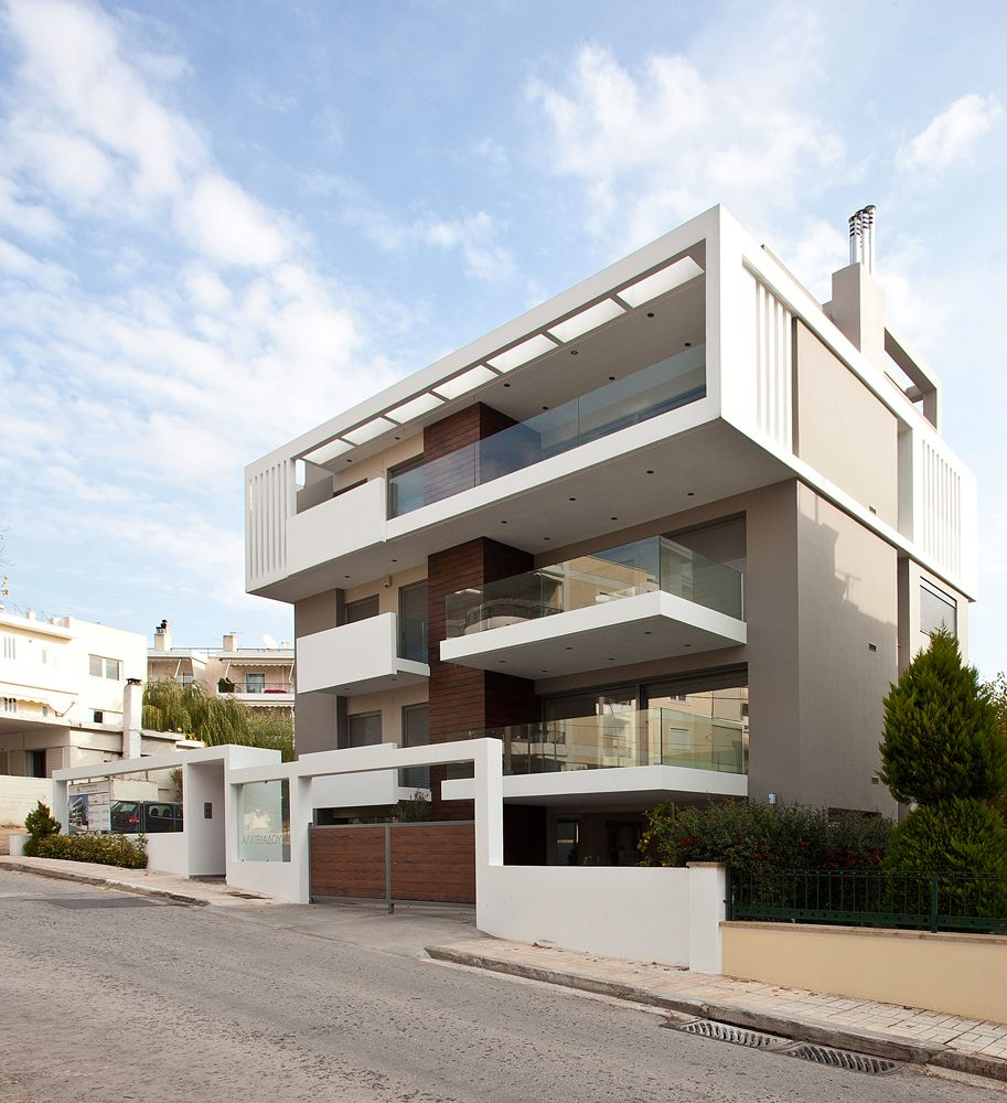 Contemporary Apartment Buildings apartment building in melissia | athens - greece | architect