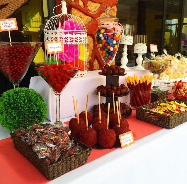Mexican Candy Bar With Images Mexican Birthday Parties