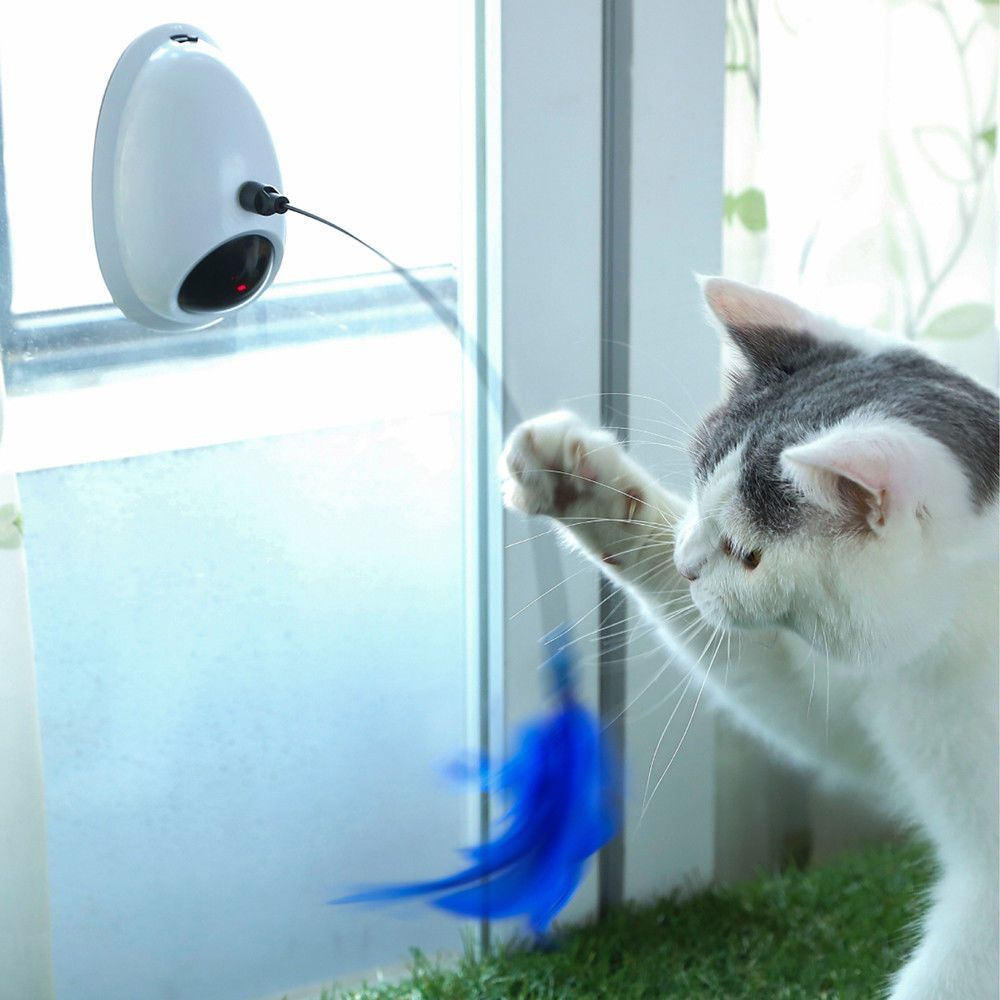 Pet Cat Electric Toy Automatic Rotation Laser Kitten Teaser Interactive Toys Pet Cat Toys Cat Laser Toy Pets Cats