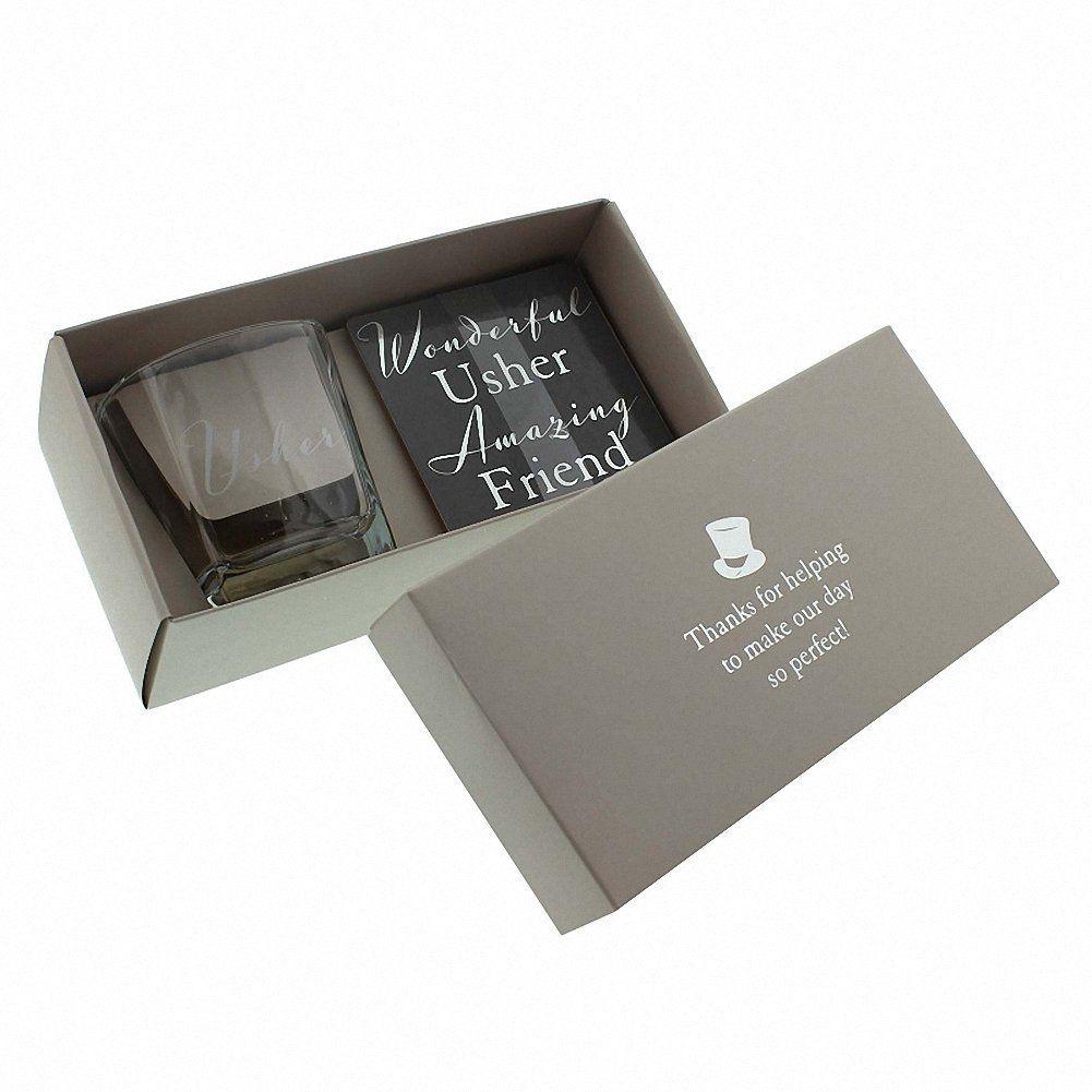Amazon Usher Gift Set Whisky Glass And Coaster Coasters