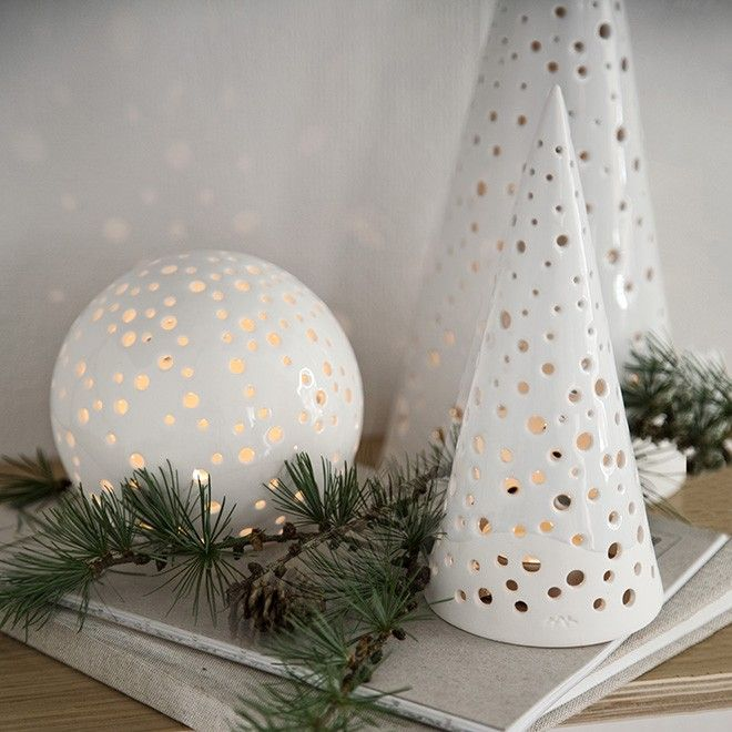 nobili is khlers range of classic ceramic christmas decorations inspired by the winter forests of scandinavia where stars flicker in the soft - Ceramic Christmas Decorations