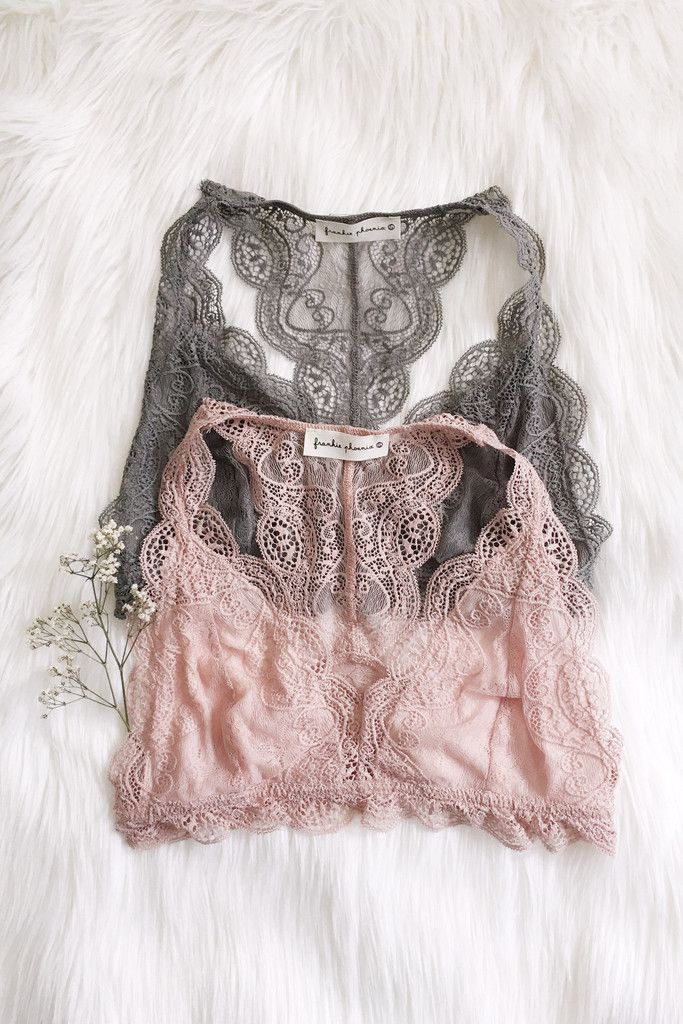 - Details - Size - Shipping - • 95% Nylon 5% Spandex • Lace triangle bralette with hook and eye closure tank • Hand Wash • Line dry • Imported • Runs small • Model is wearing M/L • S/M will fit A cup