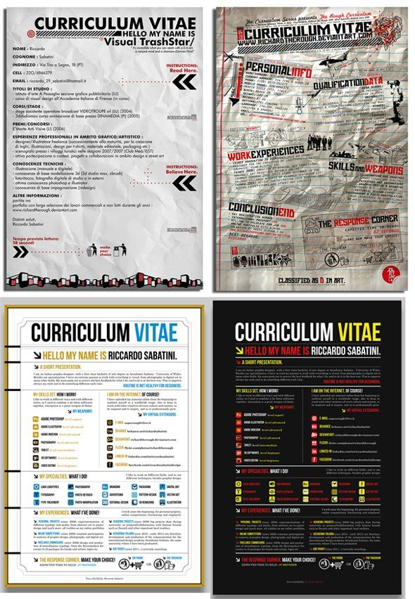 14 More Of The Coolest Resumes Ever Resume styles and - Different Resume Styles