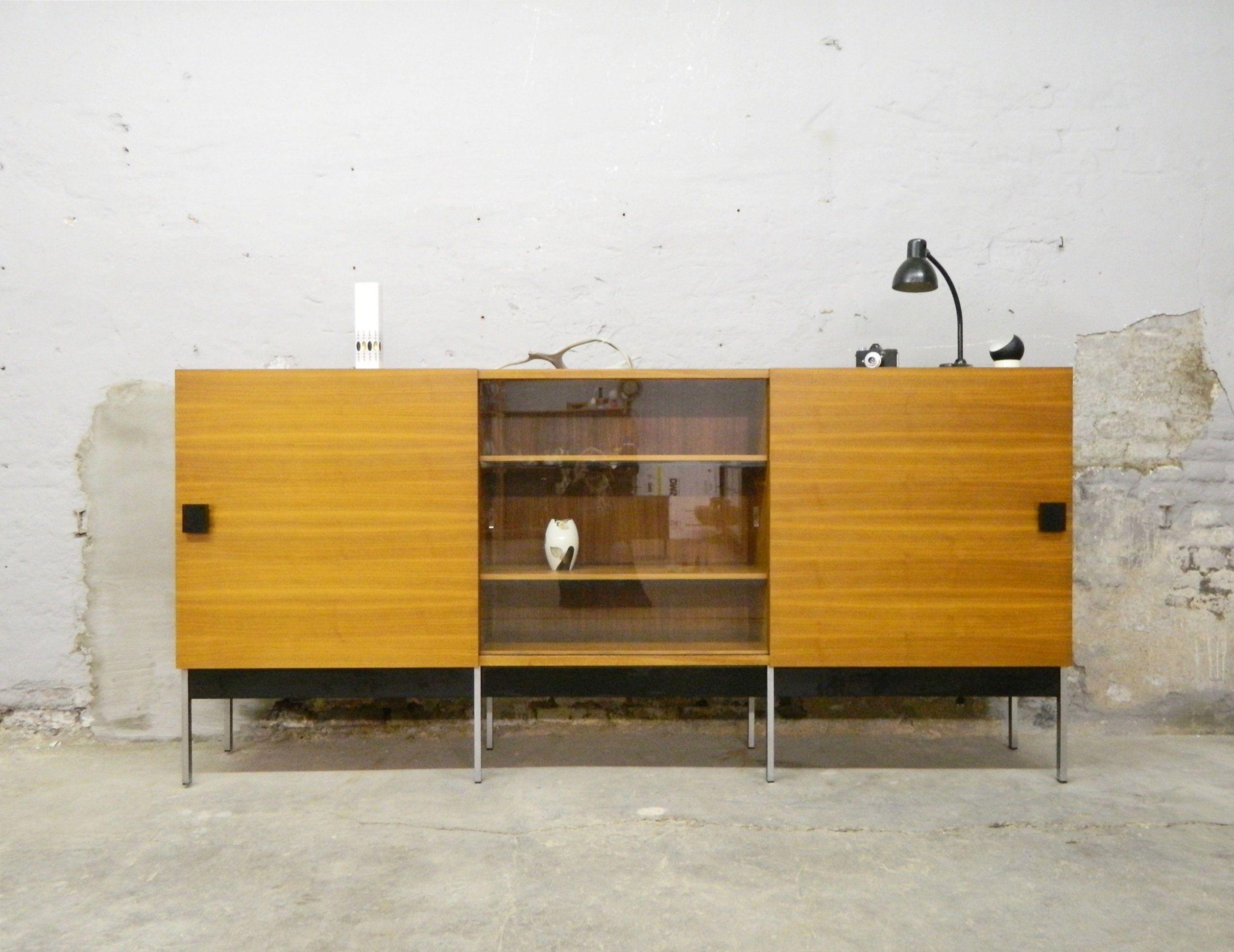 60s Sideboard 60s Living Room Cabinet Cabinet 1960s Large Sideboard Highboard Vintage Wohnzimmerschranke Highboard