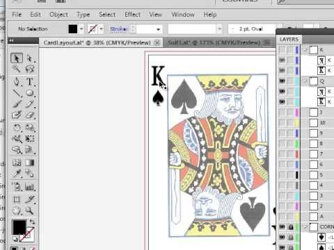 Playing Card Design In Illustrator Playing Cards Design Card Design Card Template