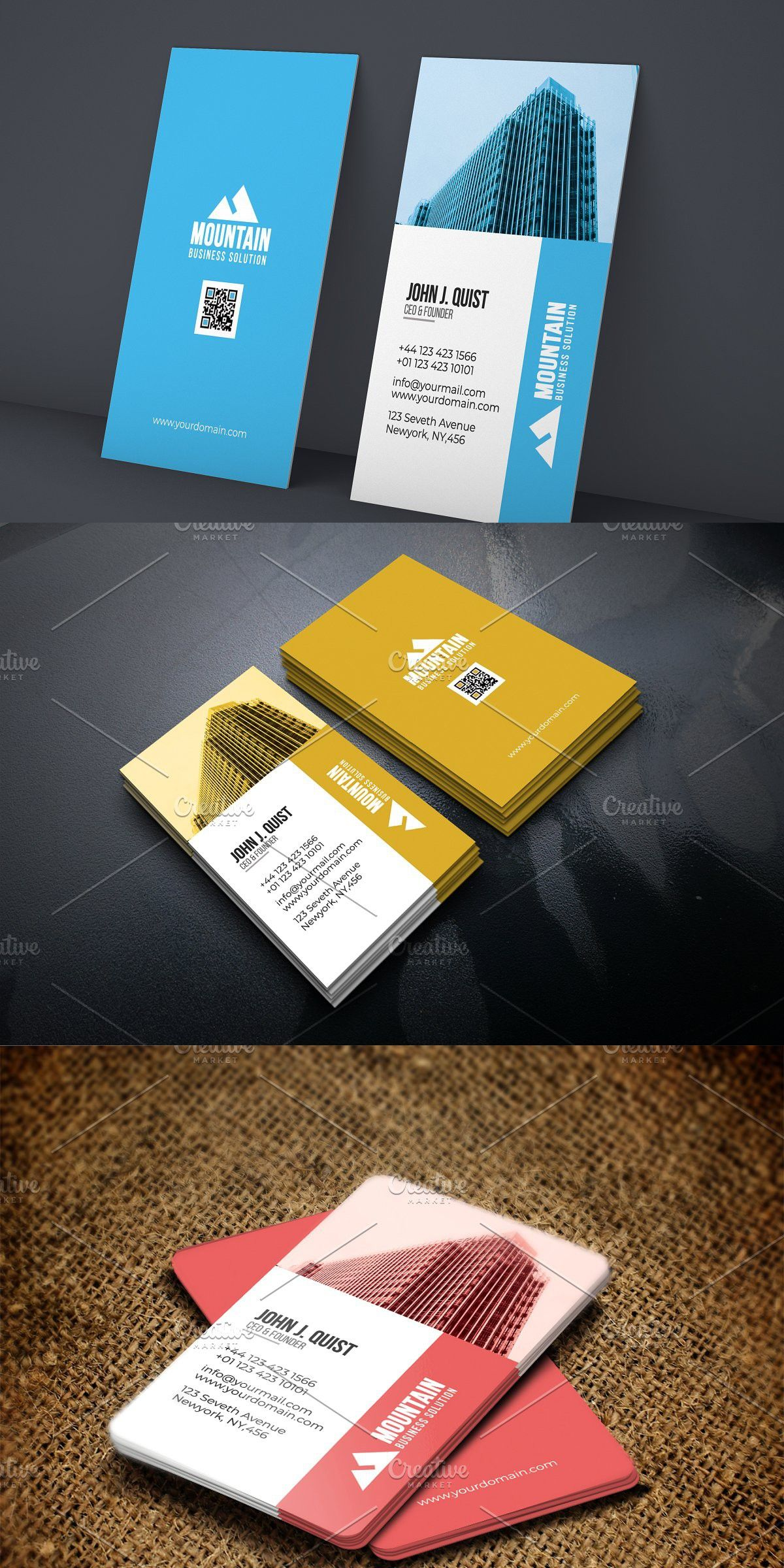 Construction Company Business Card Company Business Cards