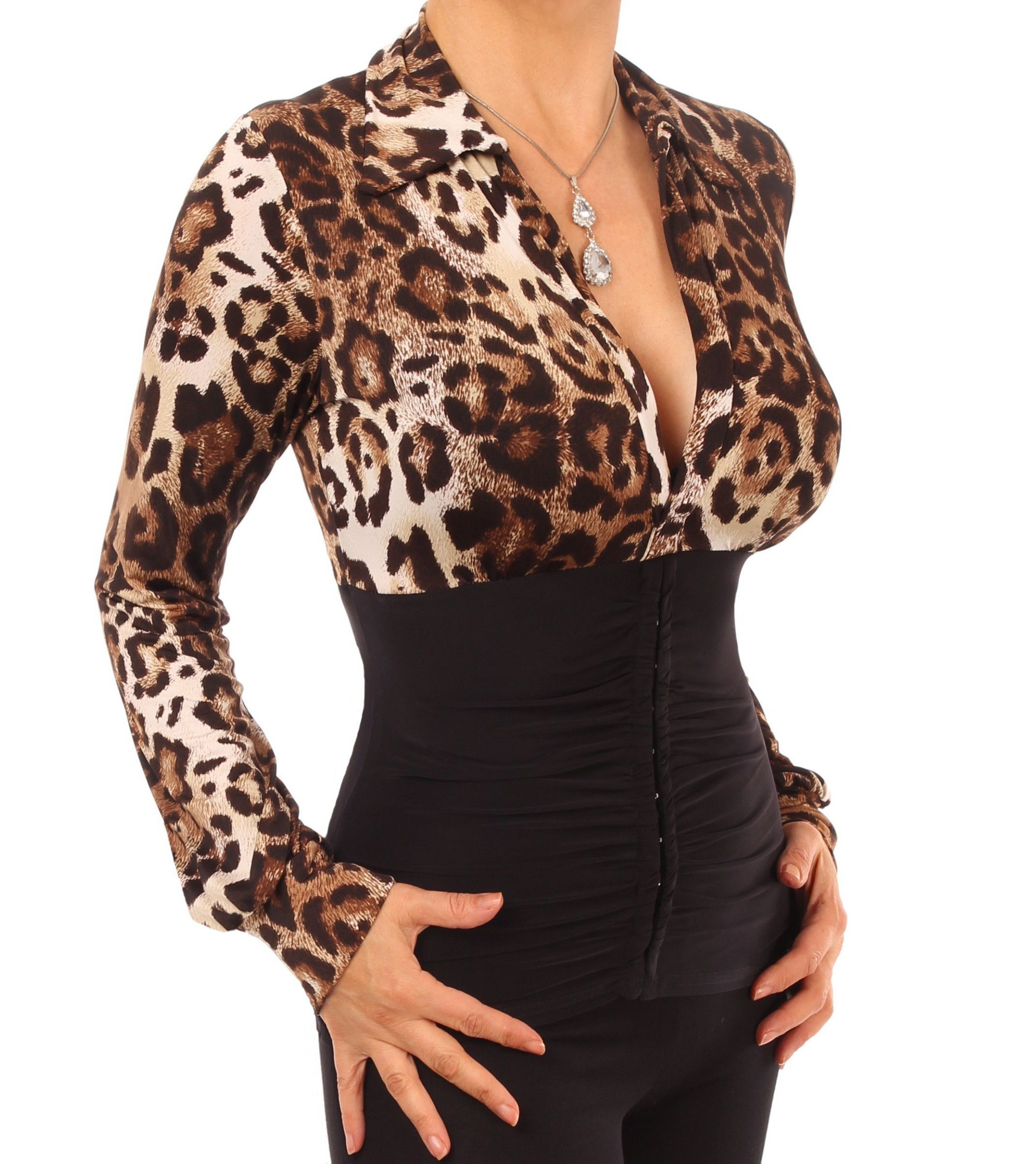 Animal print corset stretchy top stretchy tops tops