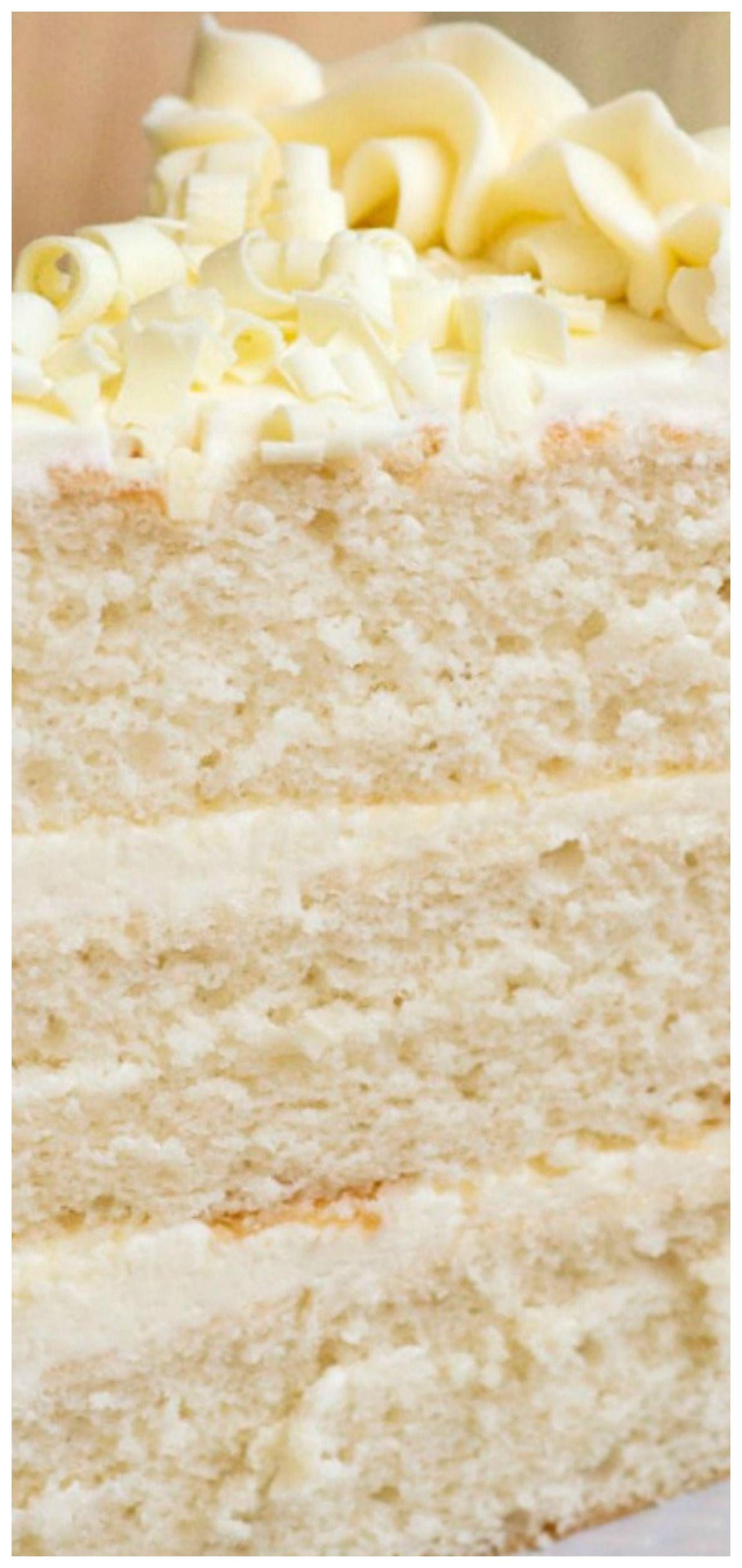 White Wedding Cake Recipe In 2020 Wedding Cake Recipe Wedding Cake Recipe White Buttercream Wedding Cake