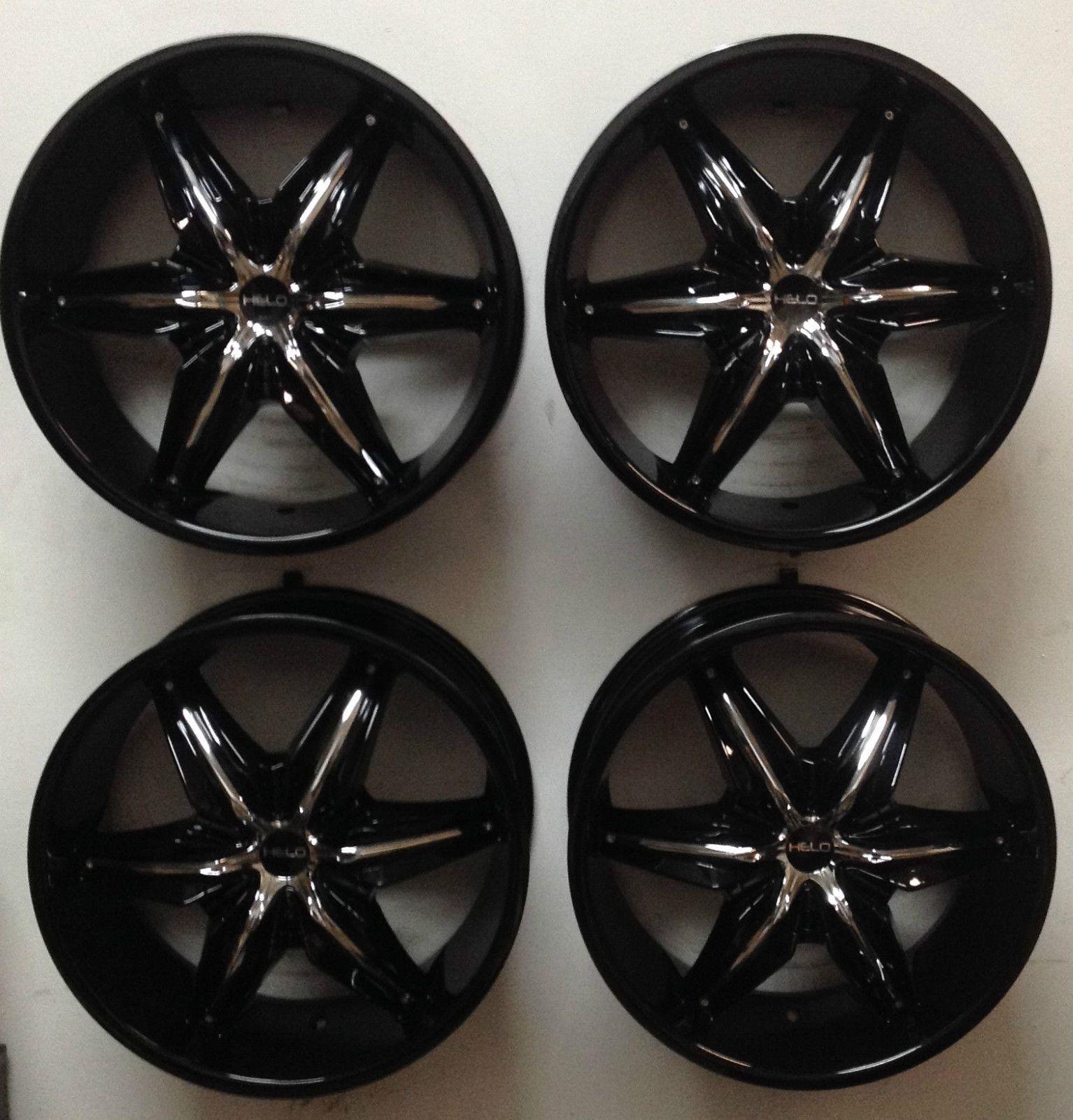 Set 4 20 Helo 866 6 Lug Chevy Used Wheels Rims Black Machined 6x5