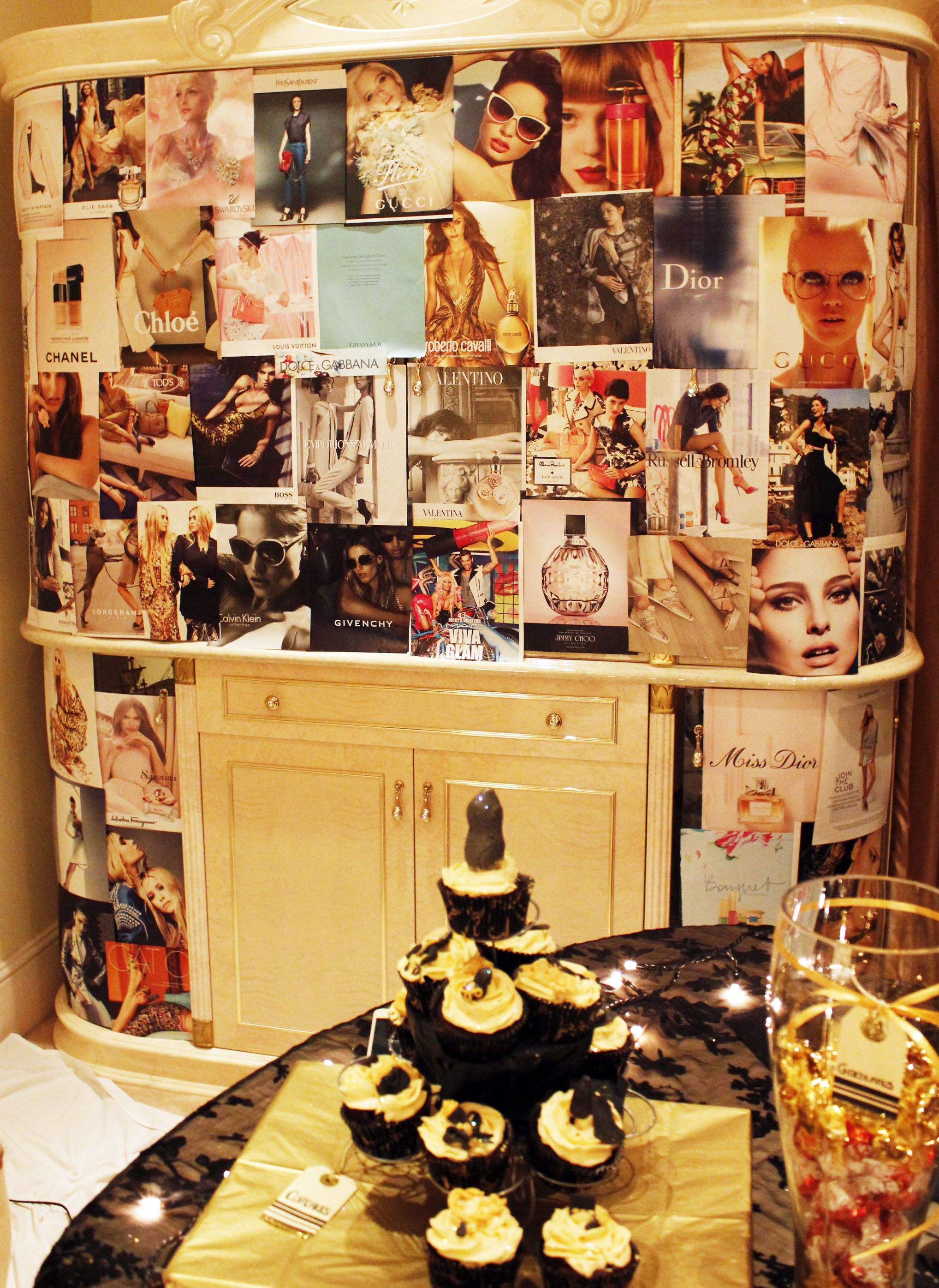 Fashion Magazine/ Glamour Theme Party Collage Wall | NK INNOVATIONS ...