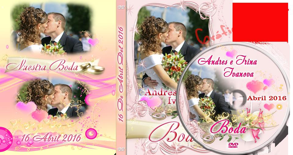 Plantillas psd para crear portadas dvd para bodas, diseño elegante ...