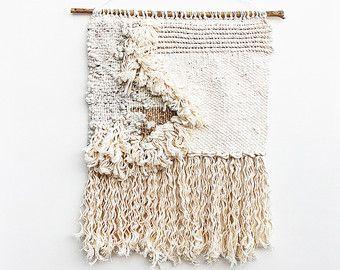 Shaggy Monochrom weben gewebten Wandbehang