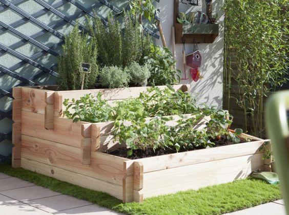 20 astuces pour am nager un petit jardin potager prendre et escaliers. Black Bedroom Furniture Sets. Home Design Ideas
