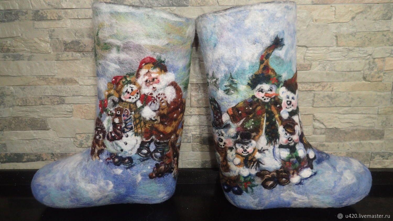 Купить Валенки ручной работы «Новый Нод к нам мчится...!» в интернет  магазине на Ярмарке Мастеров da39ea892ac