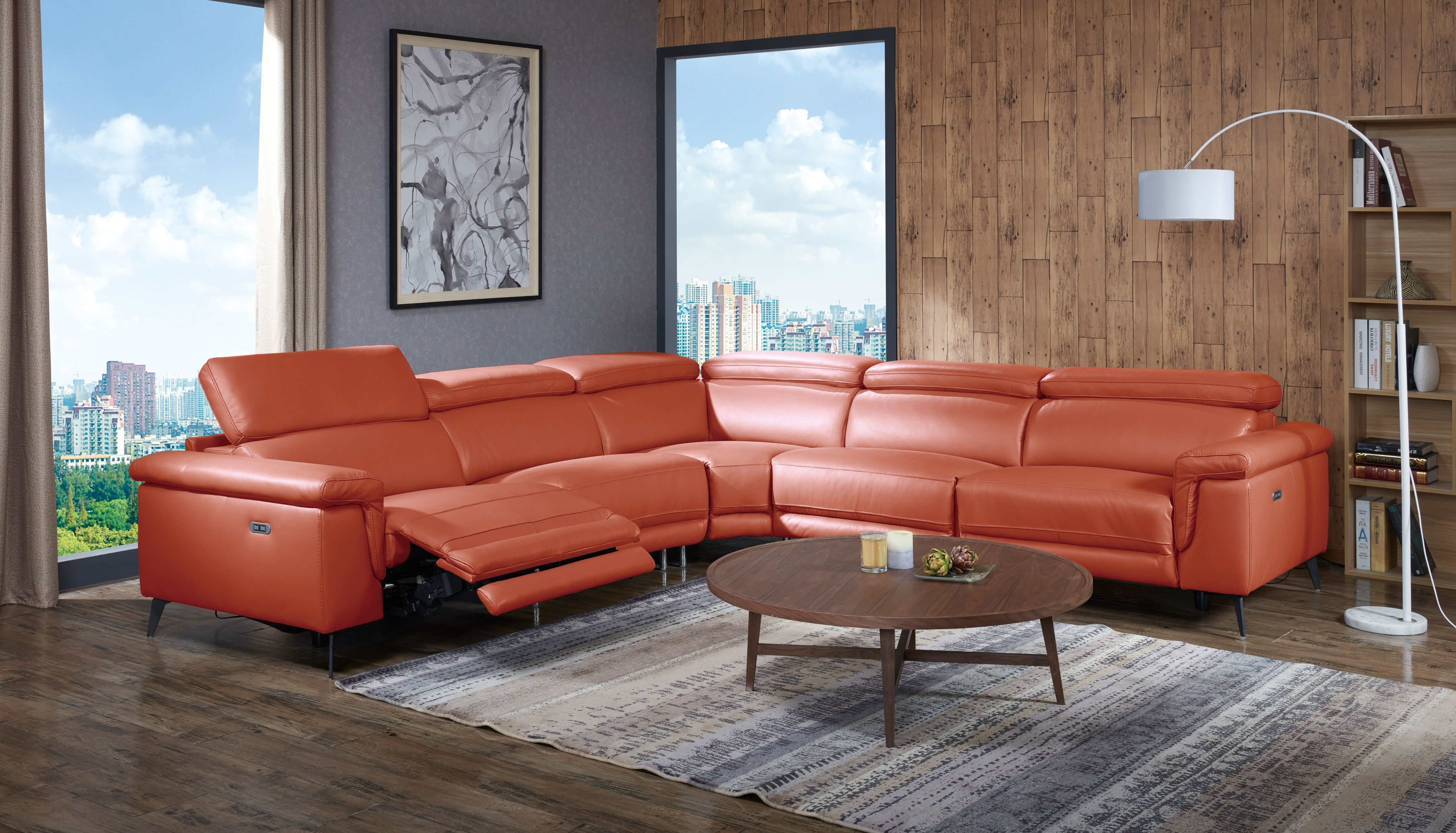 Elite Covered In Leather Sectional Reclining Sectional Sectional Sofa With Recliner Leather Reclining Sectional