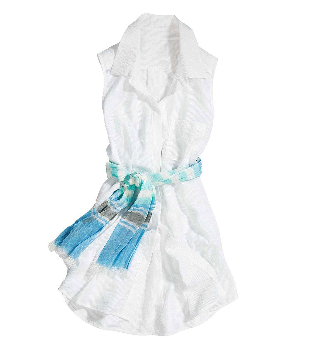 Crinkled Sleeveless Shirt - Sleeveless - Tops - Women