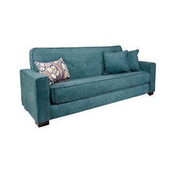 550 Amazon Com Angelo Home Alden Convert A Couch Parisian Teal