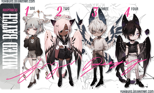 [mixed batch] auction [closed] ** by yukibuns Character