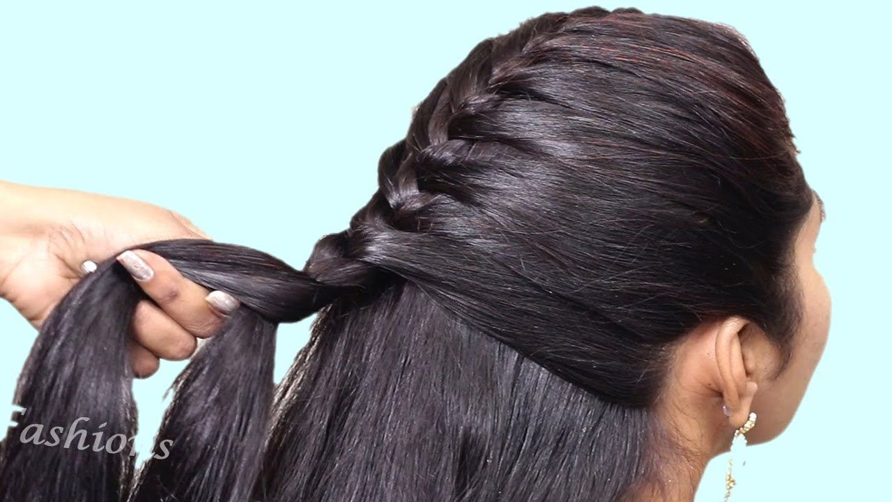 Simple hairstyle for Wedding/party  Hairstyles for Girls  Hair