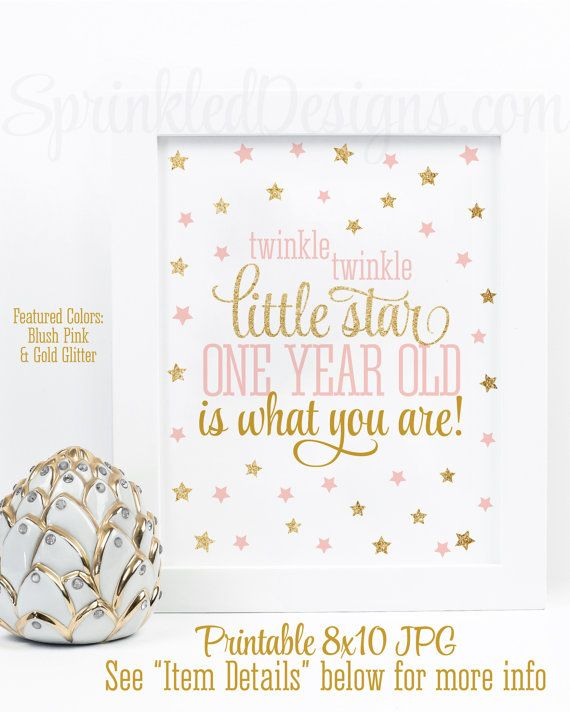 One Year Old Birthday Quotes: Twinkle Little Star One Year Old Is What You Are