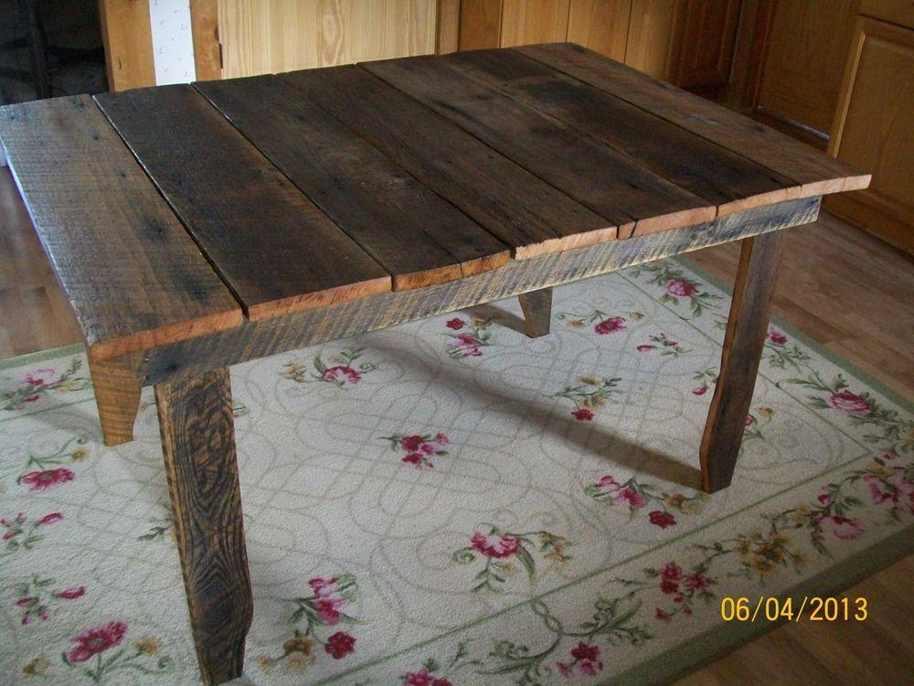 1930 Reclaimed Barnwood Rustic Kitchen Table 52 X 36 X 30
