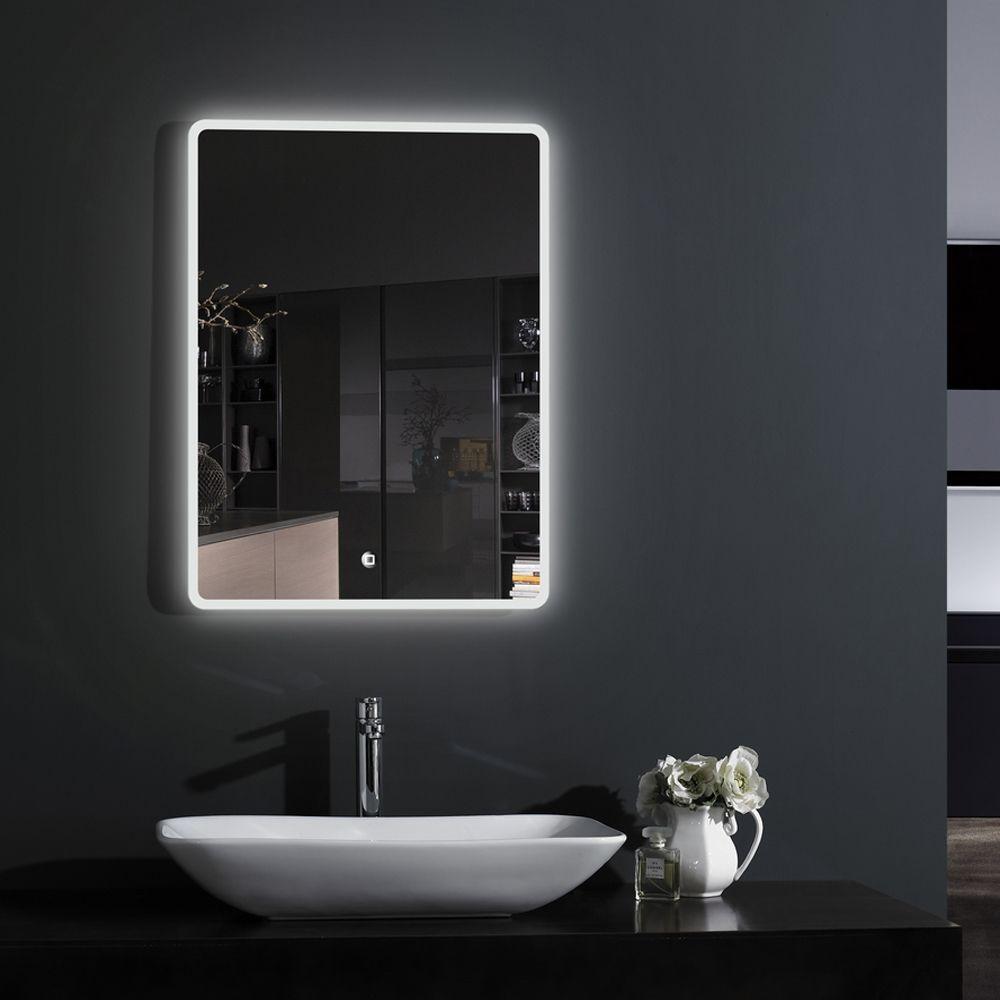 Croydex Hang N Lock Chilcombe Bathroom Mirror 700x500mm Sophisticated Bathroom Led Mirror Bathroom Illuminated Mirrors
