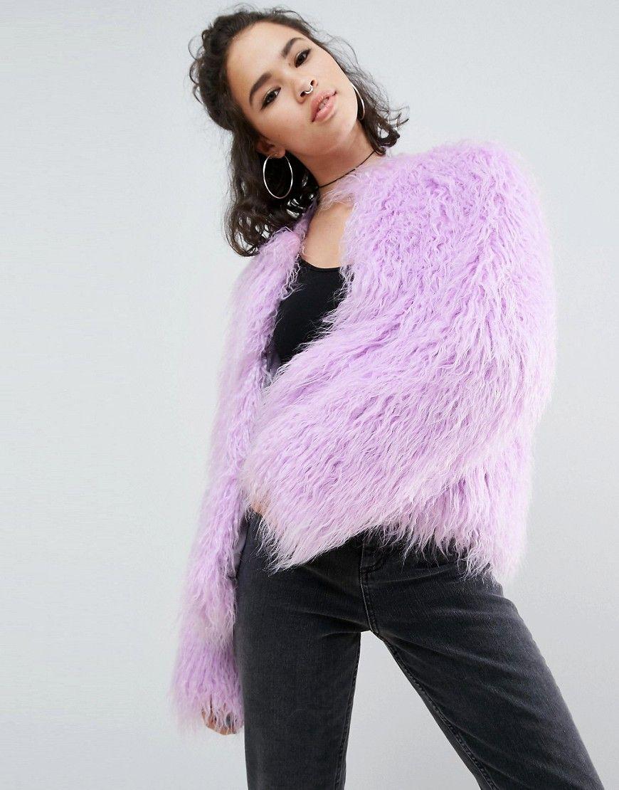 6e20bb1a28f Lilac Faux Fur Jacket