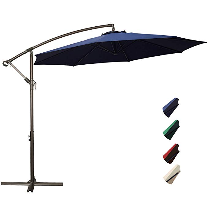 Amazon Com Rubeder Offset Umbrella 10ft Cantilever Patio Hanging Umbrella Outdoor Market Umb With Images Offset Patio Umbrella Patio Umbrella Offset Umbrella