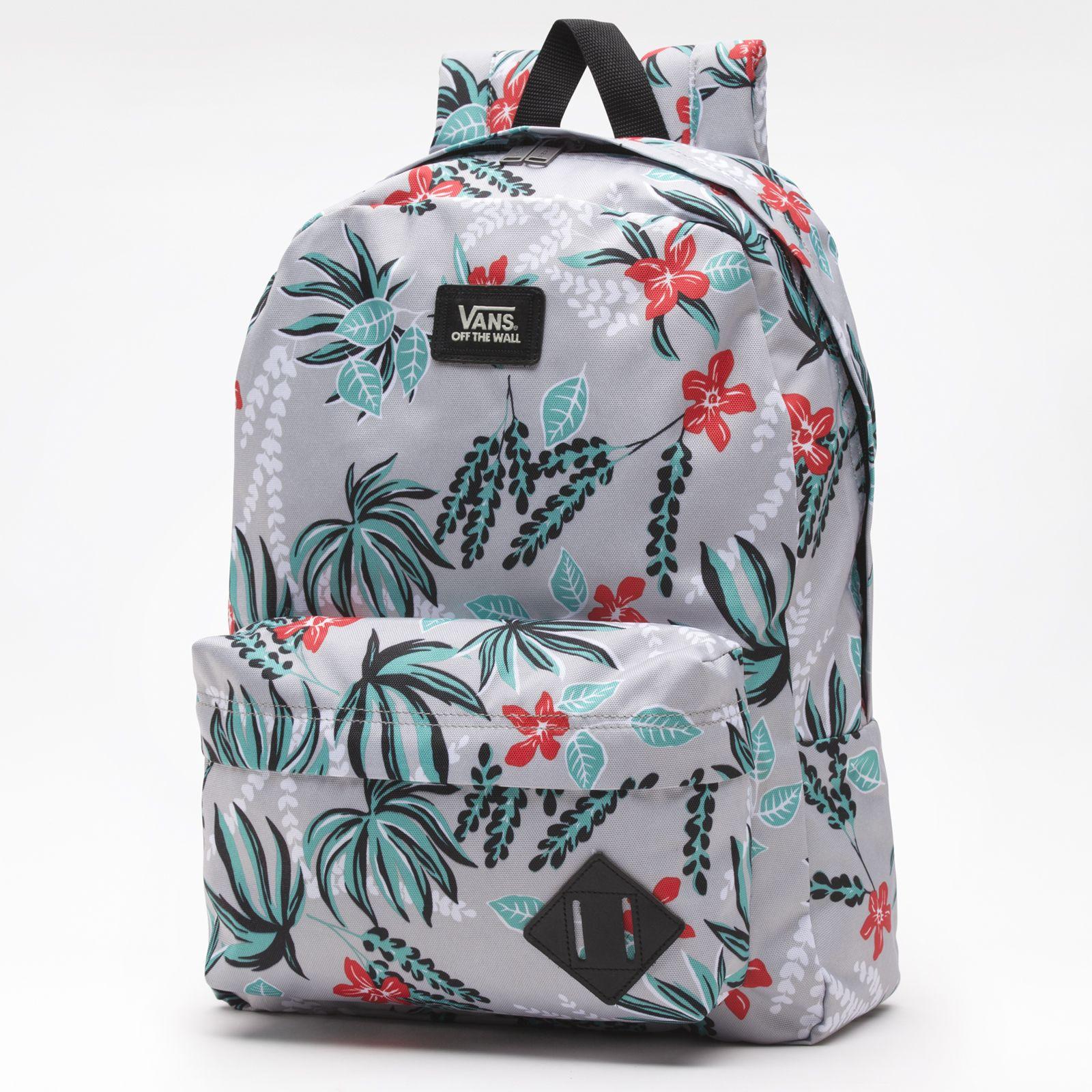 Vans Old Skool II Backpack Grey Floral | Vans bags, Vans
