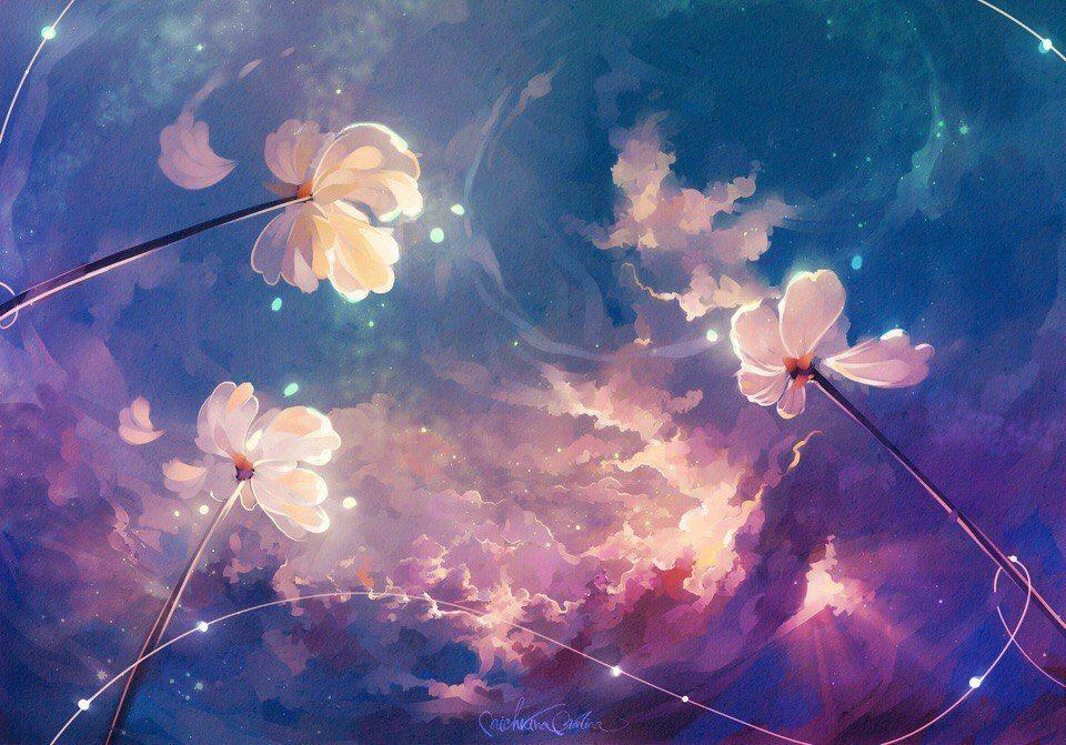 Magical flowers by MarinaMichkina Иллюстрации, Искусство