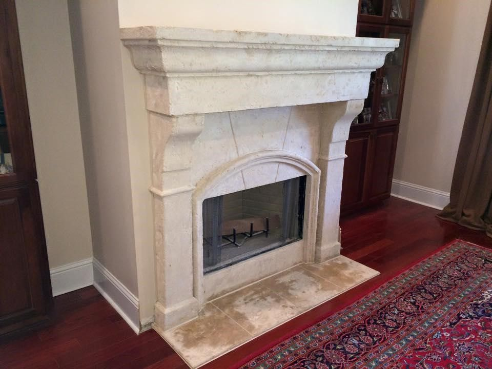 Stone Fireplace By Luxury Countertops