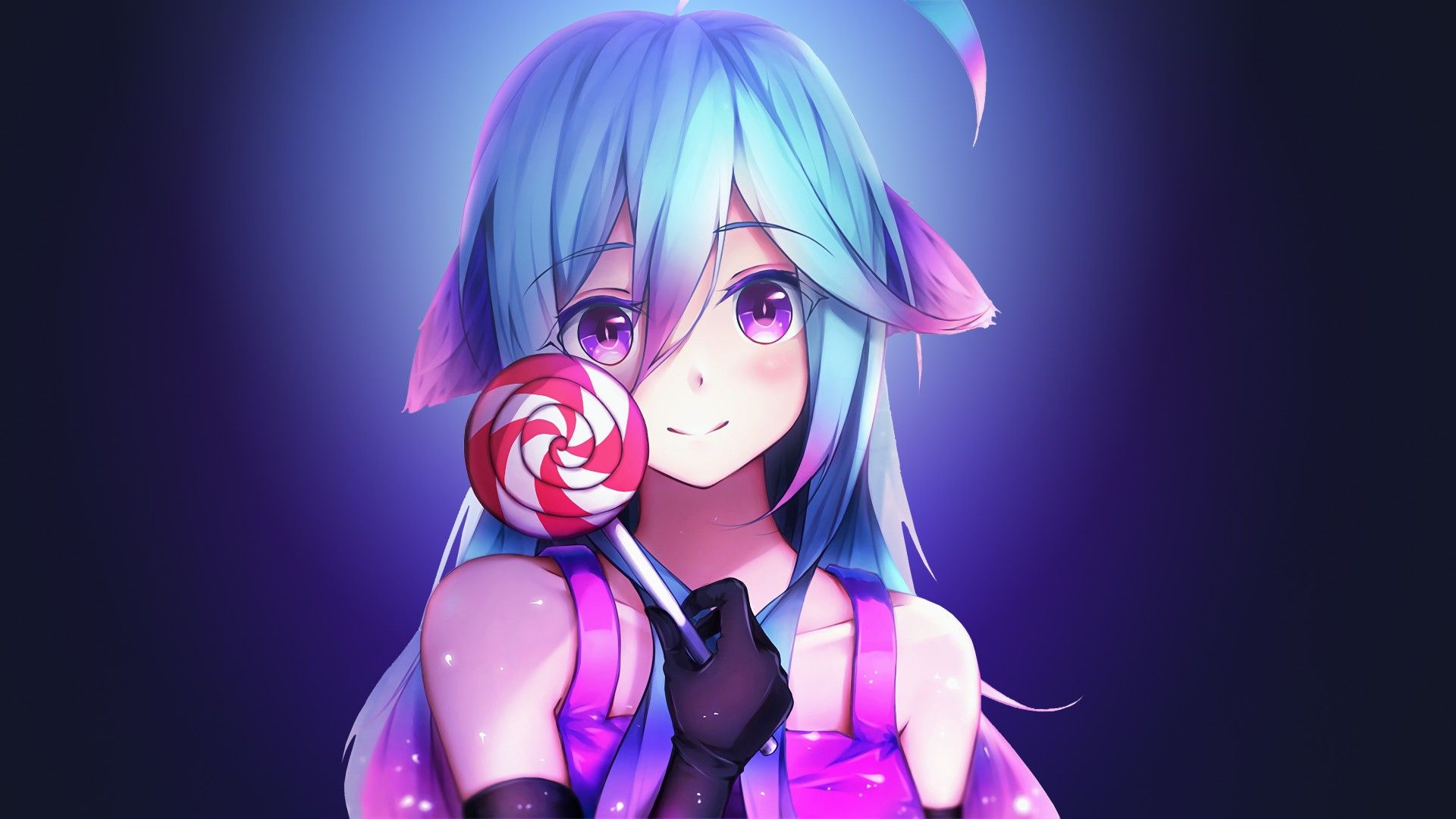 Download Wallpapers Of Anime Girl Lollipop 4k Anime 4923