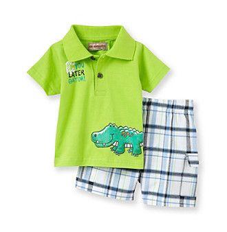 Product: Kids Headquarters® Baby Boys' Lime 2-pc. Gator Shorts Set