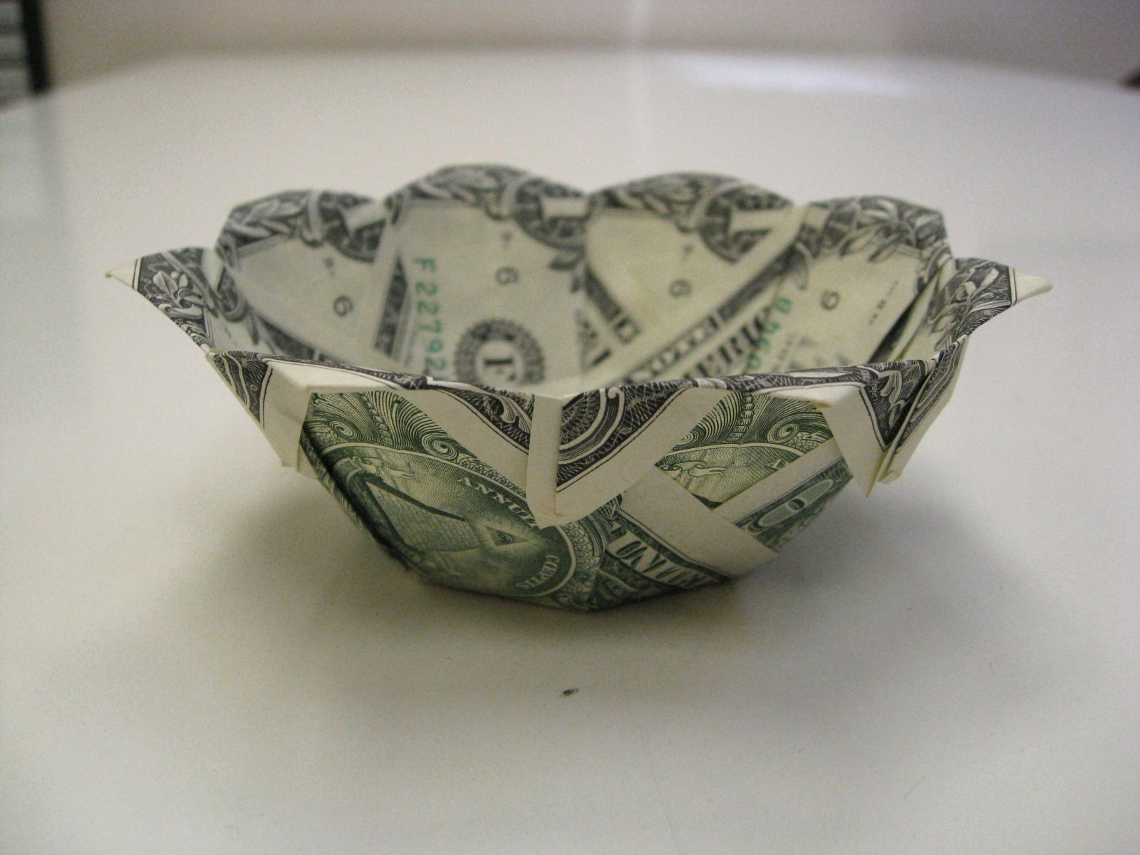 Dollar Money Origami Bowl | Money Dollar Origami ... - photo#12