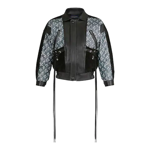 Monogram Shadow Leather Jacket Ready To Wear Louis Vuitton Fashion Clothes Design Clothes