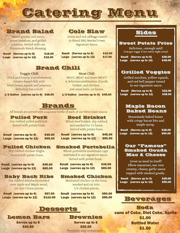 Food truck catering menu arch dsgn in 2020 catering menu