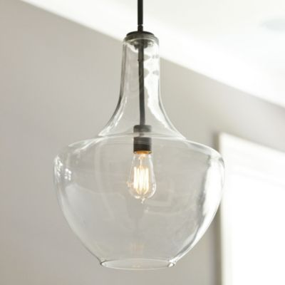 Can Light Adapter Seeded Glass Pendant With Images Traditional Pendant Lighting Pendant Lighting Glass Pendants