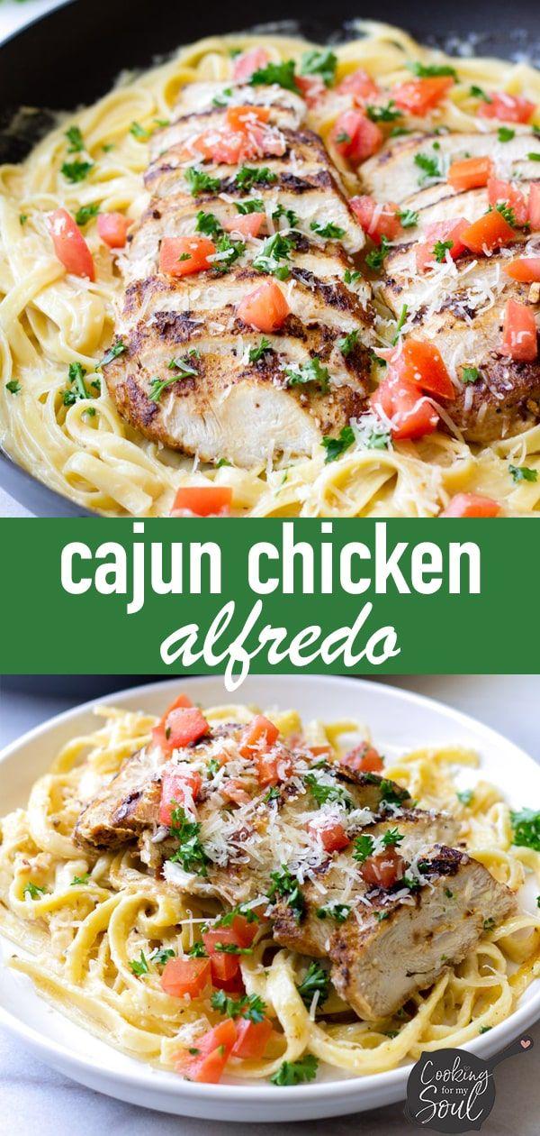 Creamy Cajun Chicken Alfredo - Cooking For My Soul #chickenalfredo