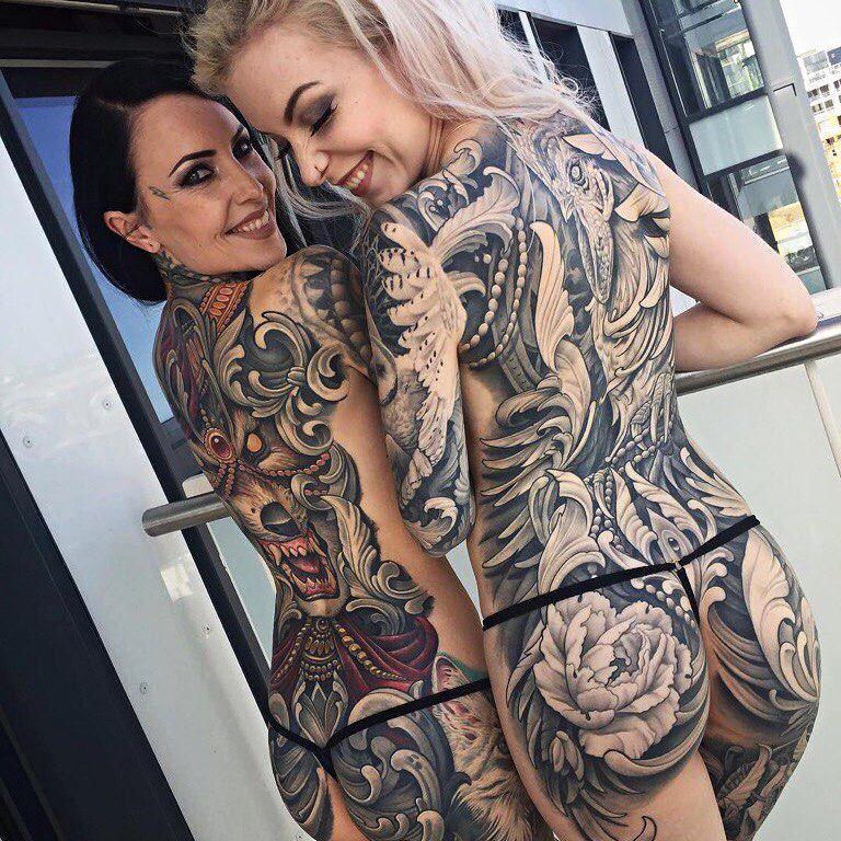 Крутые большие тату для женщин и большие 56