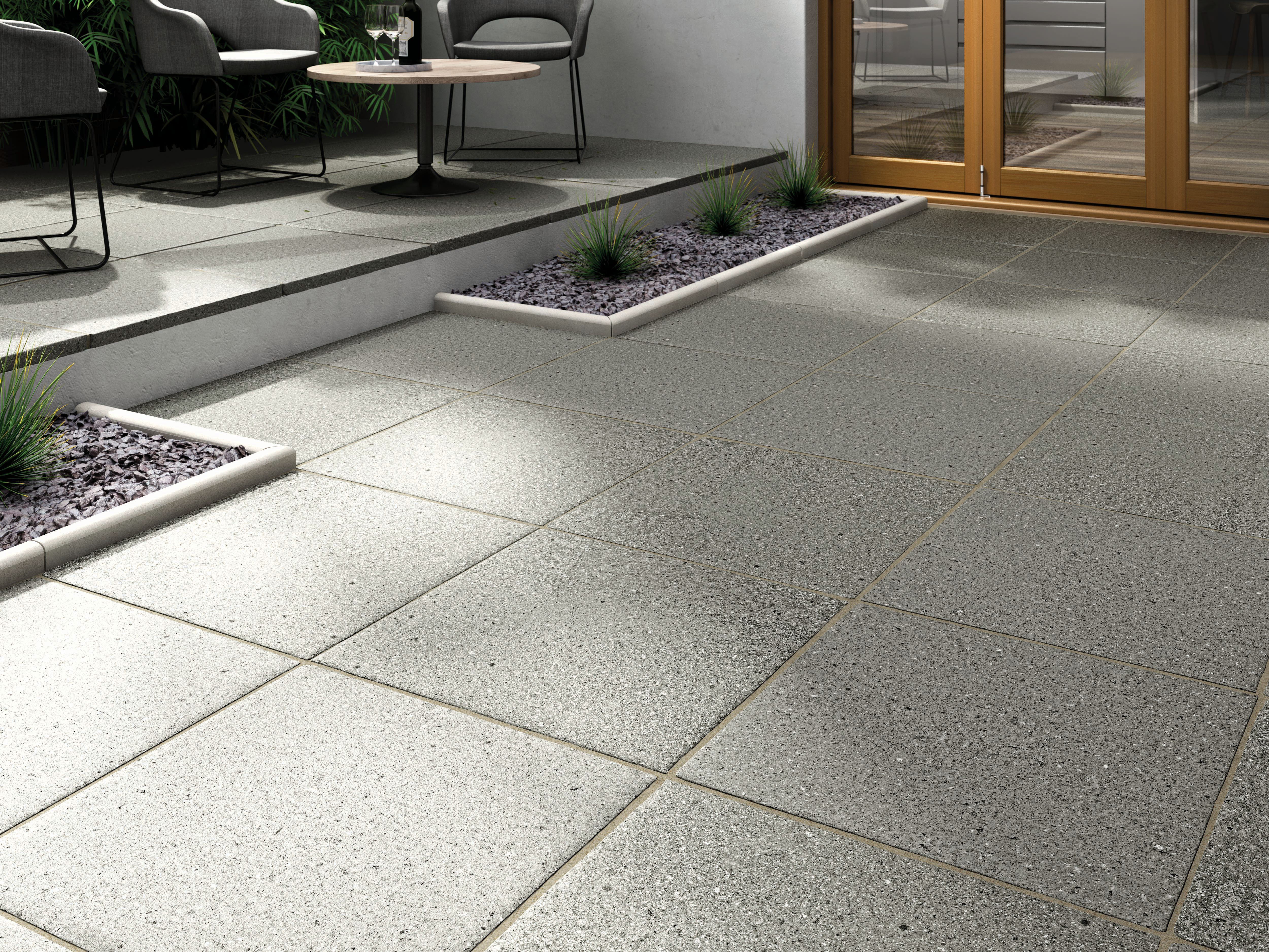Marshalls Argent Coarse Dark Grey 600 x 600 x 38mm Paving Slab
