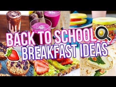 5 BACK TO SCHOOL BREAKFAST IDEAS! Healthy + Easy! - YouTube