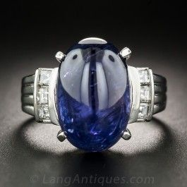 Here S A Big Beautiful Sapphire Bauble For An Equally Beautiful Small Price Weighing In At 12 Platinum Diamond Rings Oval Cabochon Gold Price Chart