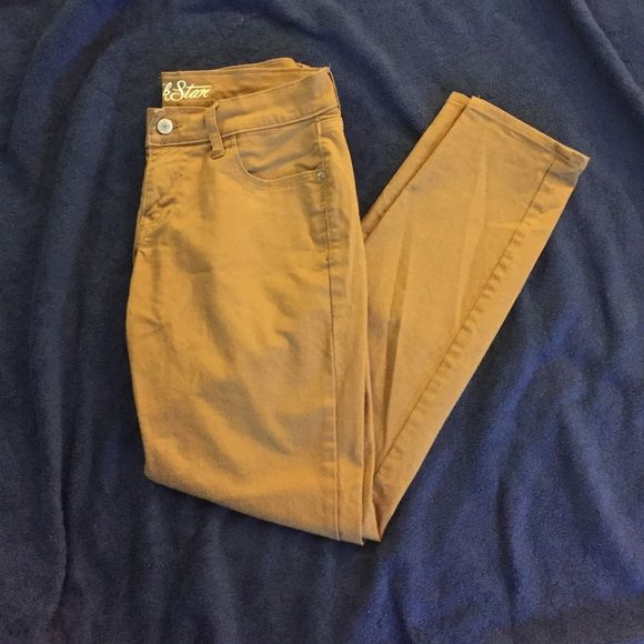 Camel Rockstar Jeans Camel colored Rockstar jeans from Old Navy. Very gently worn. Happy to negotiate on price. Jeans Skinny