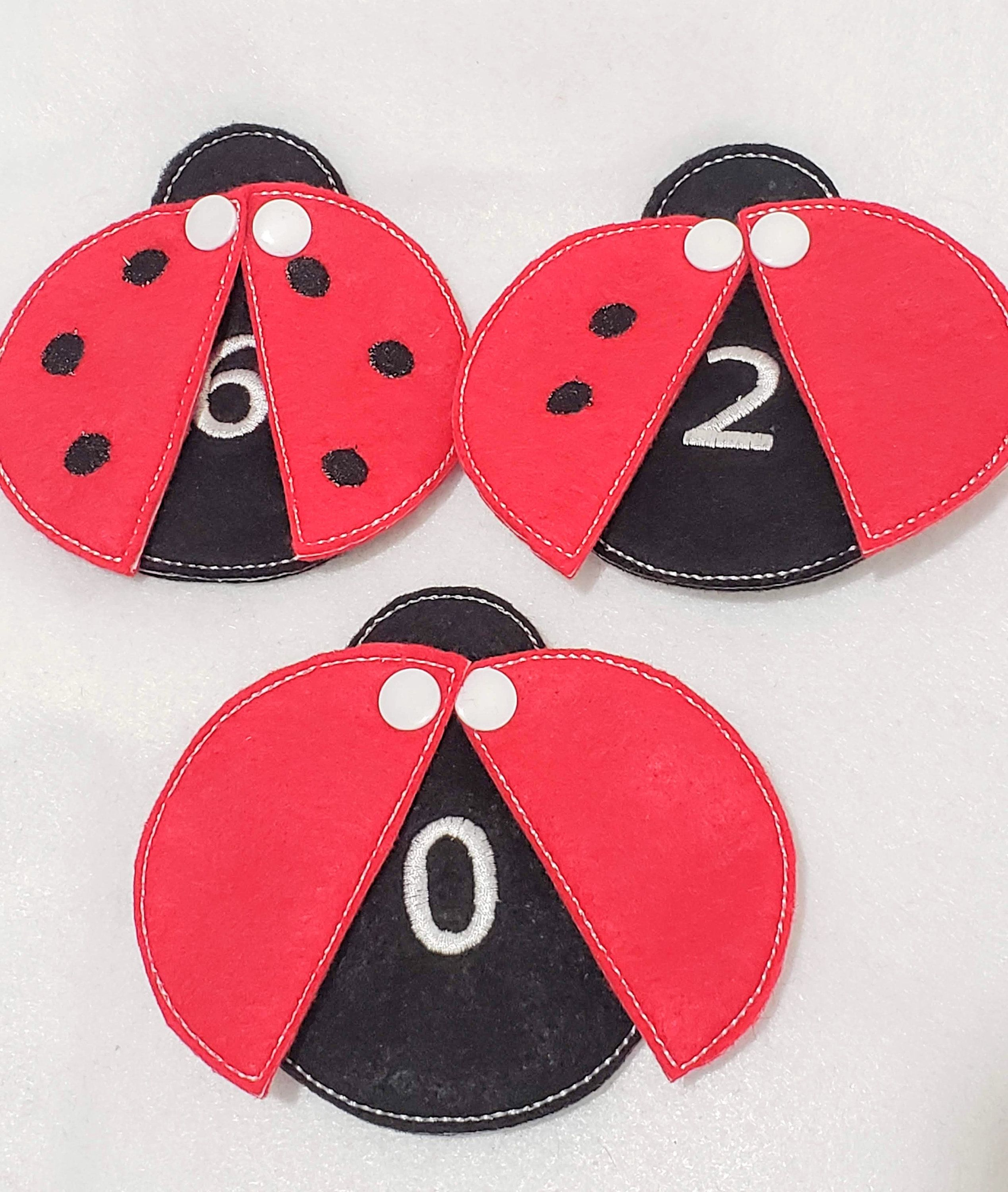 Lady Bug Counting Game Toddler Busy Bag Fabric Activity