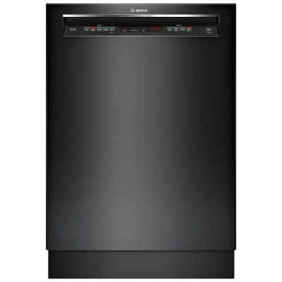 Bosch 300 Series 24 In Black Front Control Tall Tub Dishwasher With Stainless Steel Tub And 3rd Rack 44dba Shem63w56n The Home Depot Black Dishwasher Built In Dishwasher Steel Tub